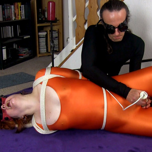 Restrained Lycra Orgasm