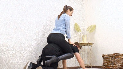 Mistress Anfisa prepares him for a long ride