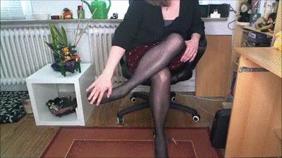 My black nylon legs!