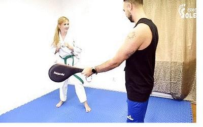 Teen karate student dominates her teacher with BIG feet