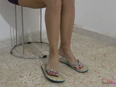 Ms Lilith Introducing her toes with pink toenails