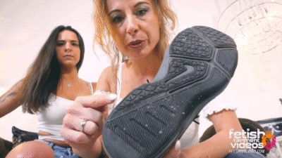 Foot Slave Training: Lick our dusty sneakers