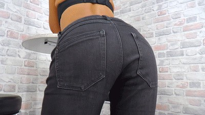 Jeans ass with addiction potential