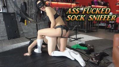 MISTRESS GAIA - ASS FUCKED SOCK SNIFFER - HD