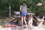 Young Woman In Yellow Fila Disruptors 2 (0208)
