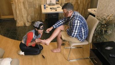 NIGAN - Reverse foot worship - Humiliation (mp4)