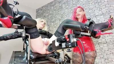 TVCindy: gynchair and fucking machine