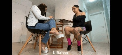 Goddess Kiffa and Mandy May - Sexy Hot School Teacher EP 4 - Mandy`s foot worship lessons and heels deepthroat