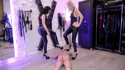 Punishment in high heels and trampling