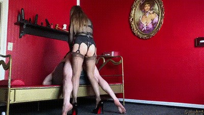 Strap-on fuck - harder and harder