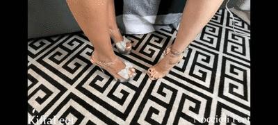 Goddess Kiffa and Lana Noccioli - Sexy Lingerie Feet Double Joi