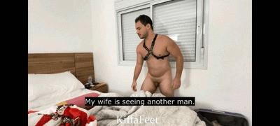 Goddess Kiffa - Ex Hotwife sucks cock while Cuckold ex husband sucks toes