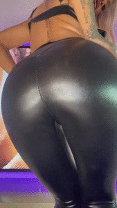 Your tongue on my leggings...