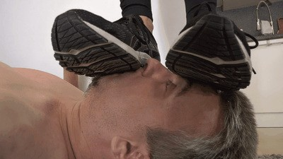 Making him suffer under my shoes, socks and feet