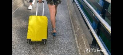 Goddess Kiffa - Public Bus trip PART 1 - Stranger Voyeur licks Kiffa`s sandals