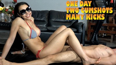 MISTRESS GAIA - ONE DAY TWO CUMSHOTS MANY KICKS - HD