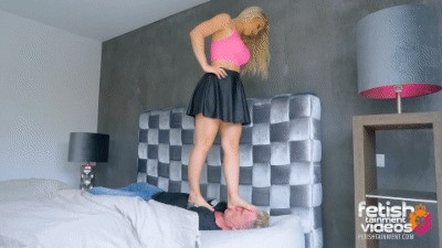 I love to trample his face under my bare feet
