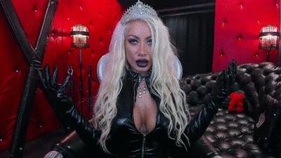 Dark queen witchcraft and mesmerizing smoke