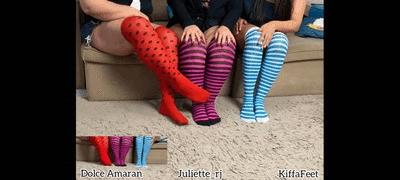 Goddess Kiffa - Dolce Amaram - Juliette_RJ - Stockings Pantyhose Tease EP 1 - Colored Stockings Meeting 2 Angles