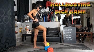 MISTRESS GAIA - BALLBUSTING DICE GAME - HD
