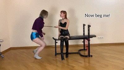 First Time Spanking Lesbian Domination and POV Ass Worship