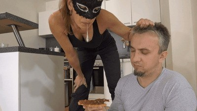 Disgusting slave meal tests slave's limits