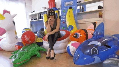 Your beloved inflatables crushed under my high heels