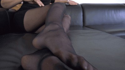 Enslaved by my sexy nylon feet