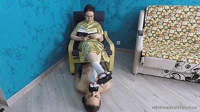 Mistress Natalia - Human Footstool for Geta (4K)