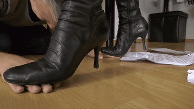 Employees hands and report crushed under my boots