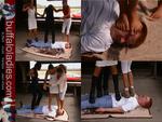 3 Girls...poor Slave!!