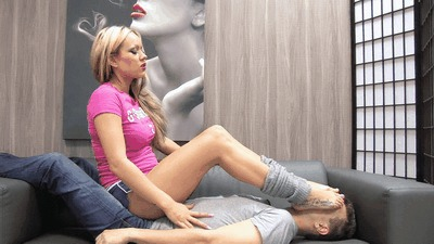 Inhale my workout odor, slave!